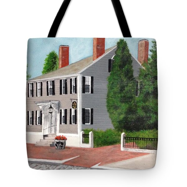 Tote Bag featuring the painting Whistler House by Cynthia Morgan