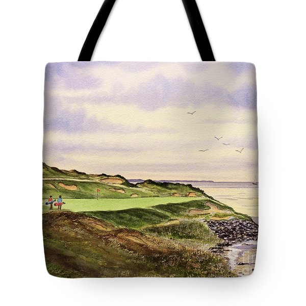 Whistling Straits Golf Course Hole 7 Tote Bag by Bill Holkham