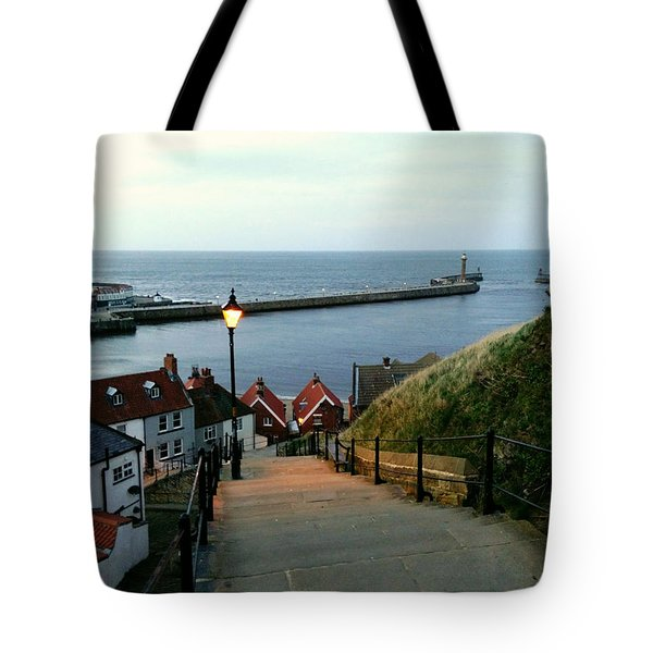 Whitby After Sun Down Tote Bag