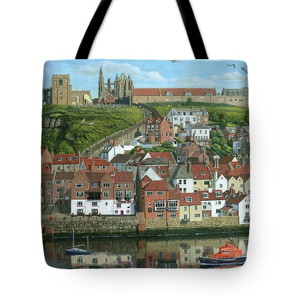 Whitby Harbor North Yorkshire  Tote Bag
