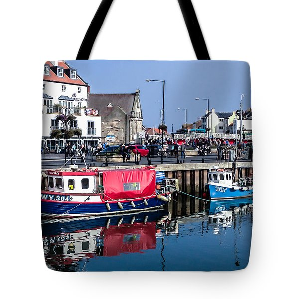 Whitby Harbor, United Kingdom Tote Bag