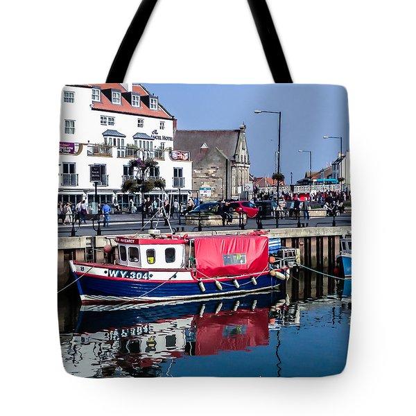 Whitby Harbor, United Kingdom Tote Bag