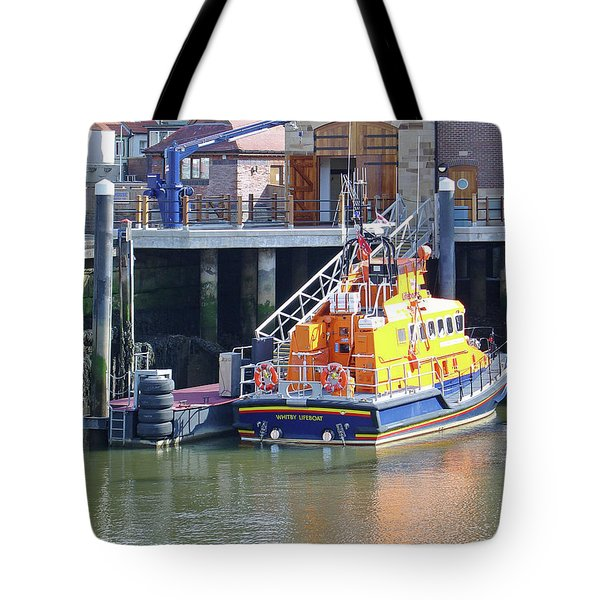 Whitby Lifeboat Tote Bag by Rod Johnson