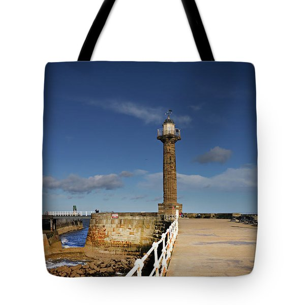 Whitby Lighthouse Tote Bag