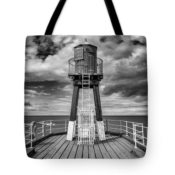 Whitby Pier Tote Bag by Gillian Dernie