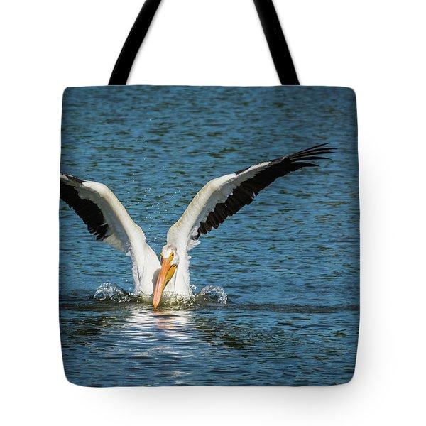 White American Pelican Tote Bag