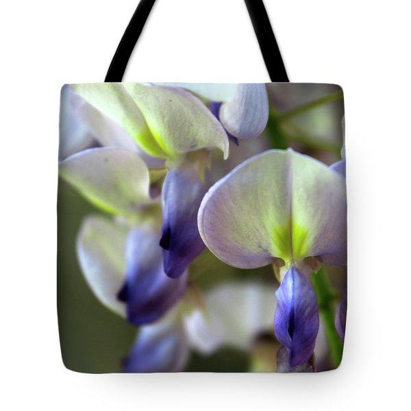 Wisteria White And Purple Tote Bag