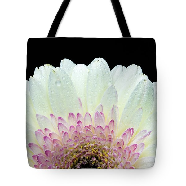 White And Pink Daisy Tote Bag