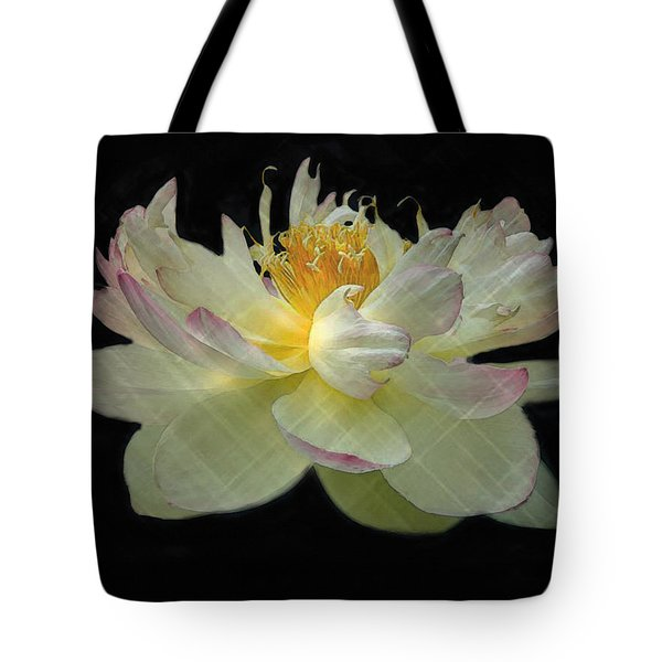 White And Pink Floral Tote Bag