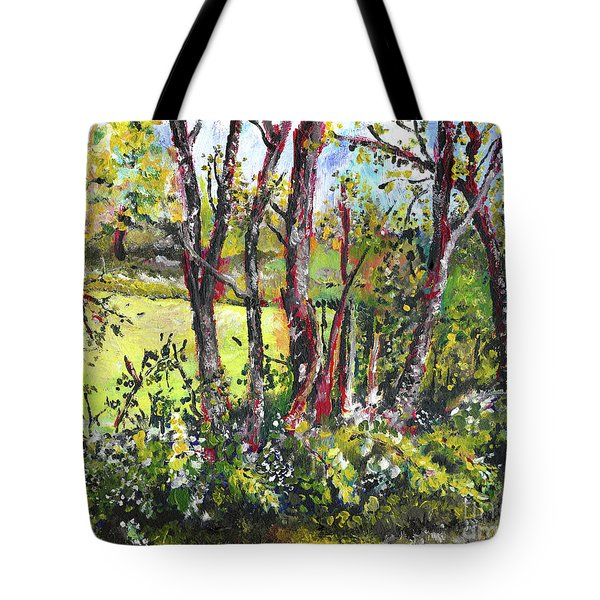 White And Yellow - An Unusual View Tote Bag