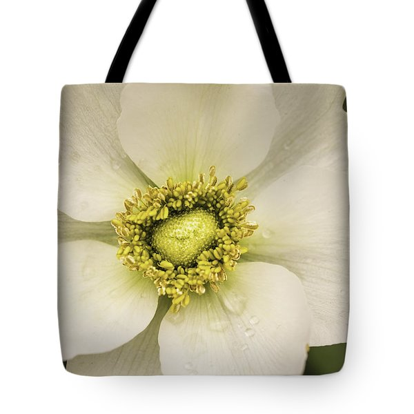 White Anemone Tote Bag