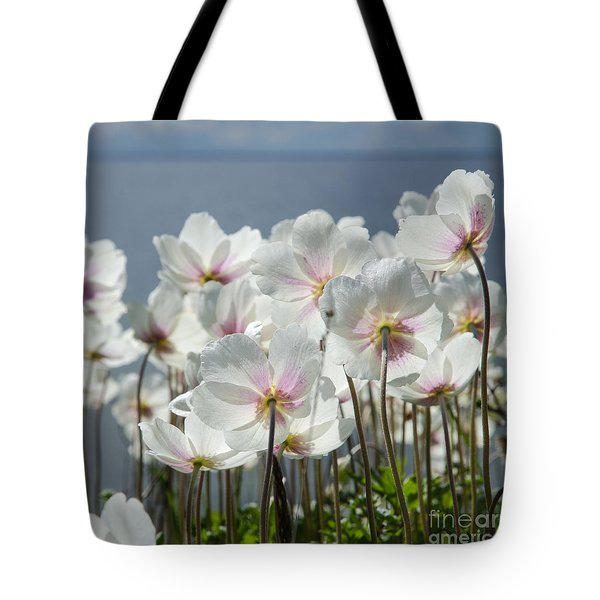 White Anemones From The Back Tote Bag