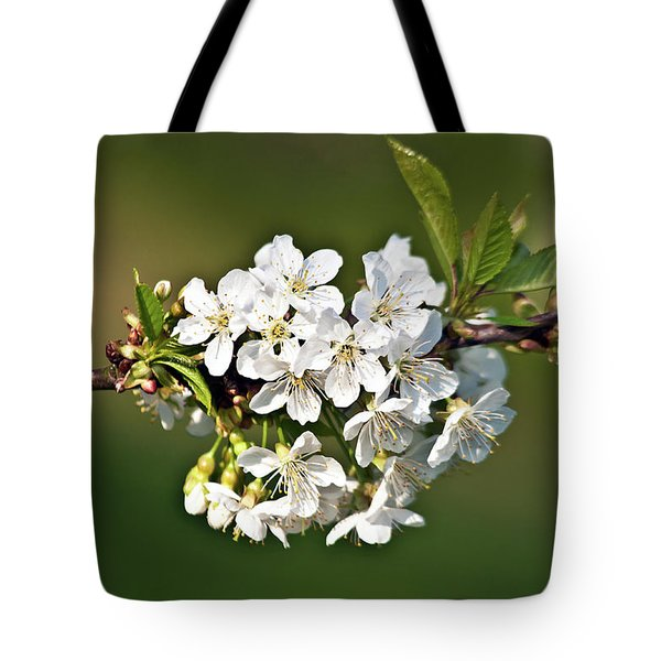 White Apple Blossoms Tote Bag