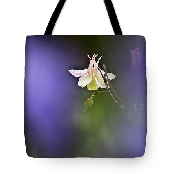 White Aquilegia Tote Bag