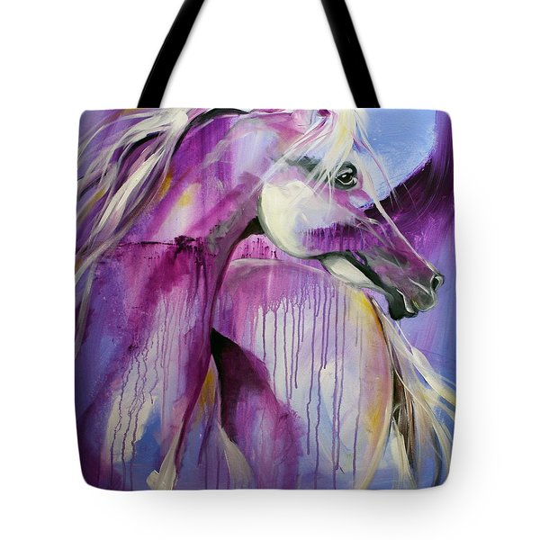 White Arabian Nights Tote Bag by Laurie Pace