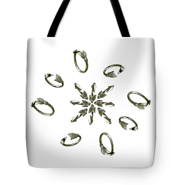 White Arrow Circle For Julie Tote Bag