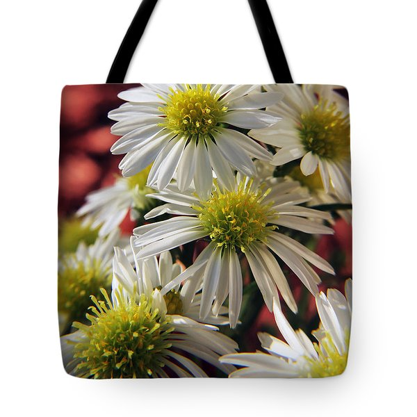 Tote Bag featuring the photograph White Aster by Richard Stephen