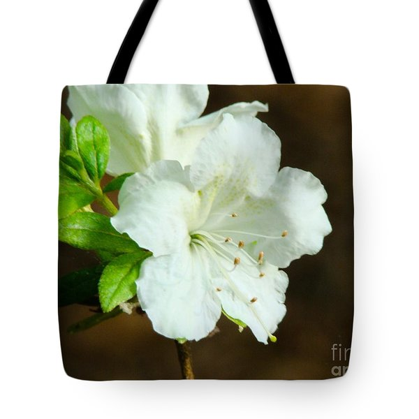 Tote Bag featuring the photograph White Azalea  by Rand Herron