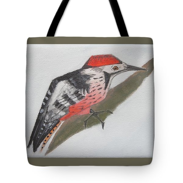 White-backed Woodpecker Tote Bag