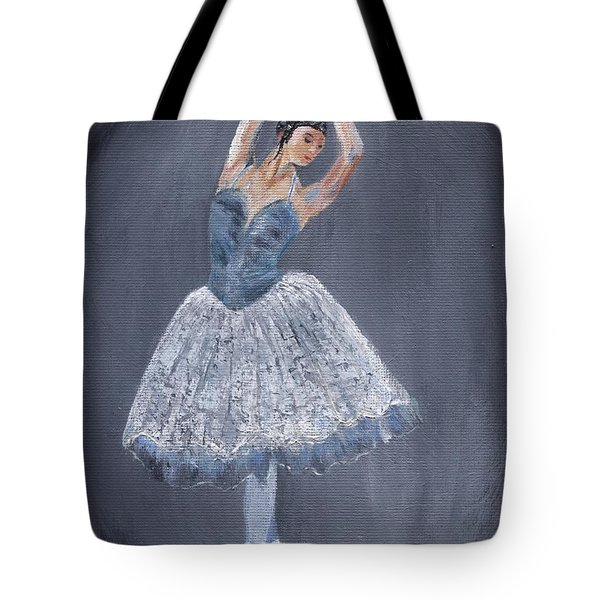 Tote Bag featuring the painting White Ballerina by Jamie Frier