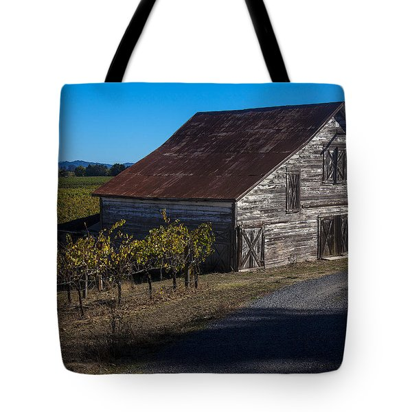 White Barn Tote Bag by Garry Gay