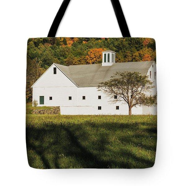 White Barn In Color Tote Bag