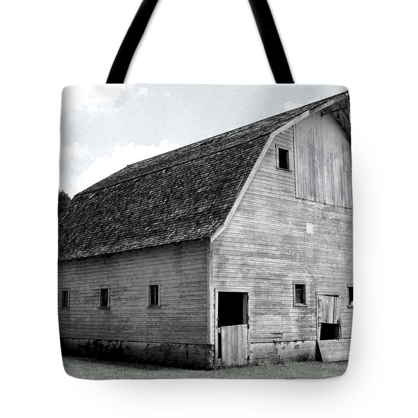 White Barn Tote Bag by Julie Hamilton