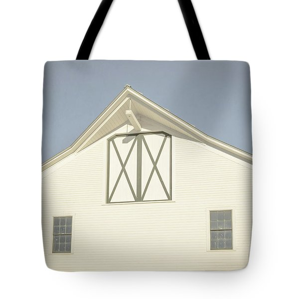 White Barn South Woodstock Vermont Tote Bag by Edward Fielding