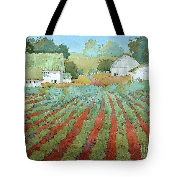 White Barns In Virginia Tote Bag