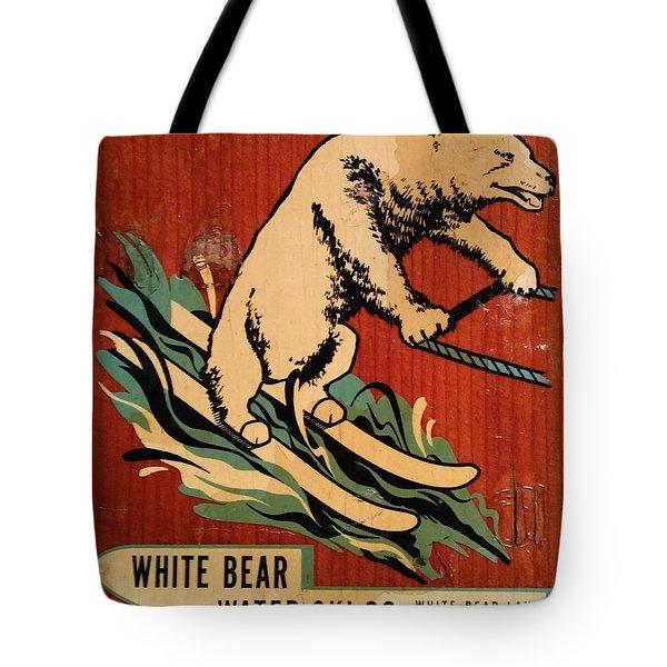 White Bear Water Ski Tote Bag