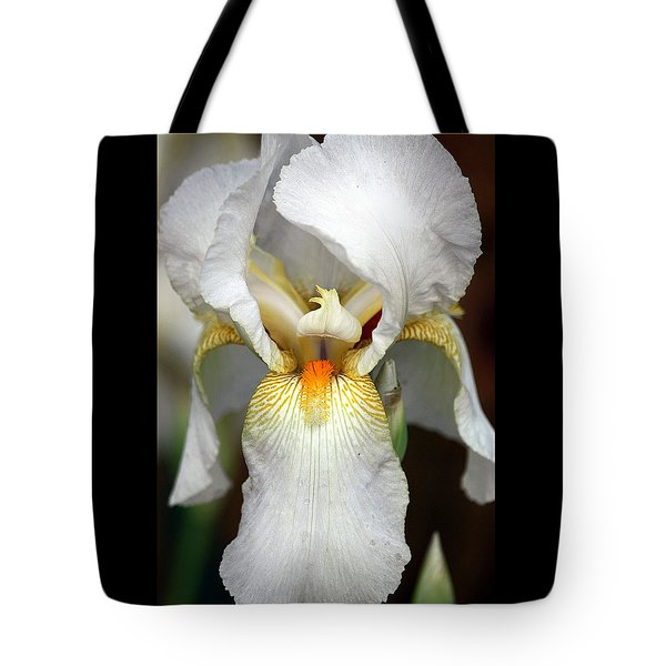 Tote Bag featuring the photograph White Bearded Iris 2 by Sheila Brown