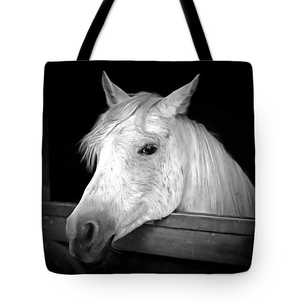 White Beauty Tote Bag by Marion Johnson