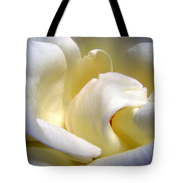 White Beauty Rose Tote Bag