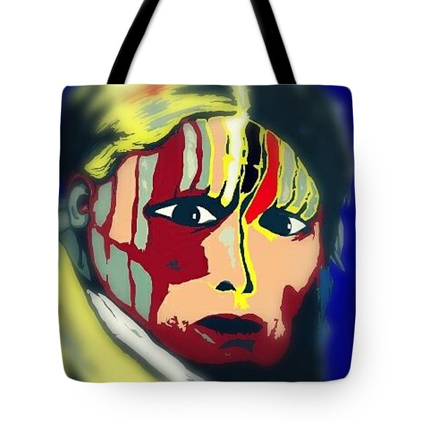 White Belly Sioux.1900. Popart Tote Bag by Ayasha Loya