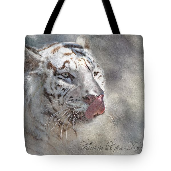 White Bengal Tiger Tote Bag