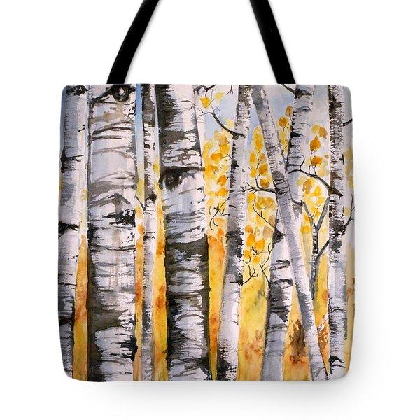 White Birch Meadow Tote Bag
