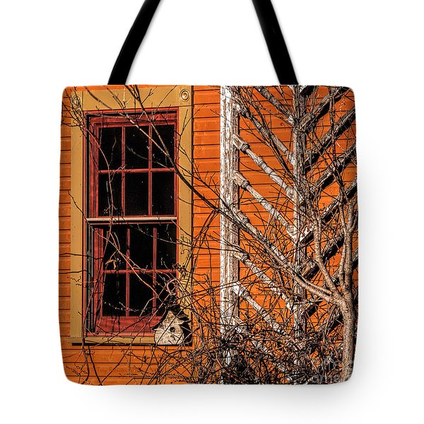 White Bird House Tote Bag by Trey Foerster