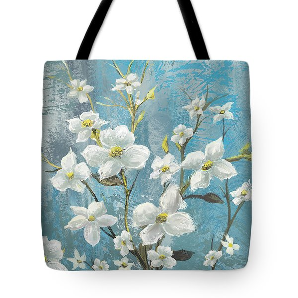 White Bloom Tote Bag by Anthony Christou