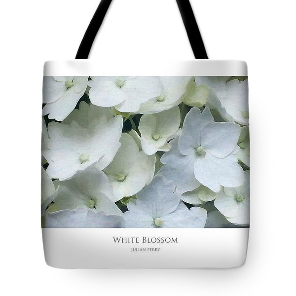 Tote Bag featuring the digital art White Blossom by Julian Perry
