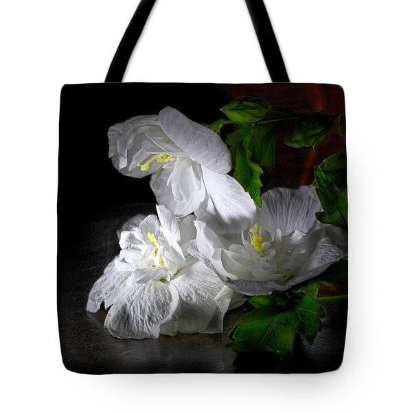 White Blossoms Tote Bag by Robert Och