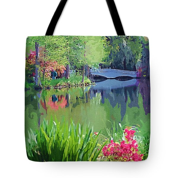 Tote Bag featuring the photograph White Bridge by Donna Bentley