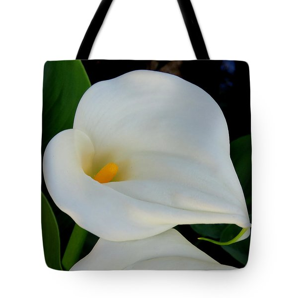 White Cala Lily Tote Bag