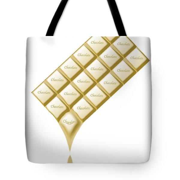 White Chocolate Bar Melting Tote Bag