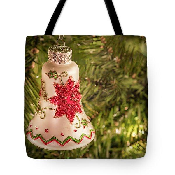 White Christmas Ornament Tote Bag