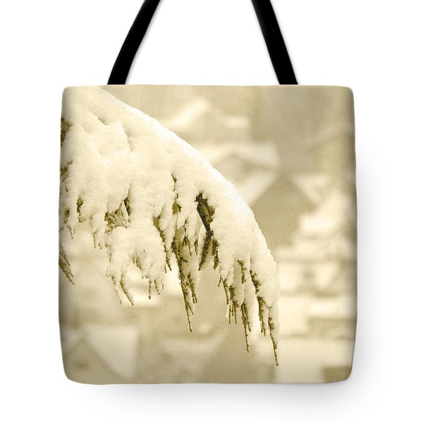 Tote Bag featuring the photograph White Christmas - Winter In Switzerland by Susanne Van Hulst