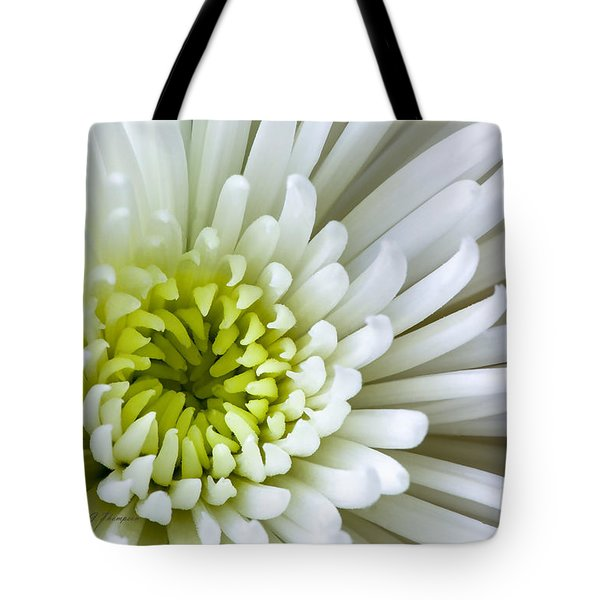 Tote Bag featuring the photograph White Chrysanthemum by Richard J Thompson