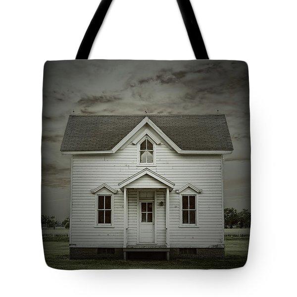 White Clapboard Tote Bag