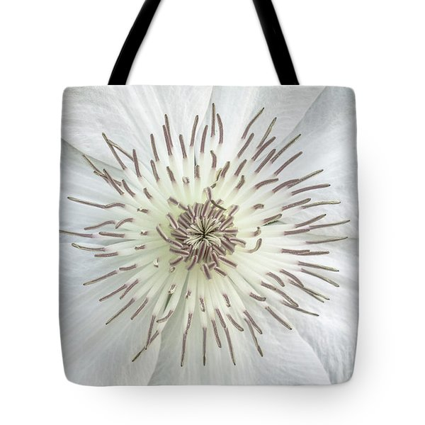 White Clematis Flower Garden 50121b Tote Bag
