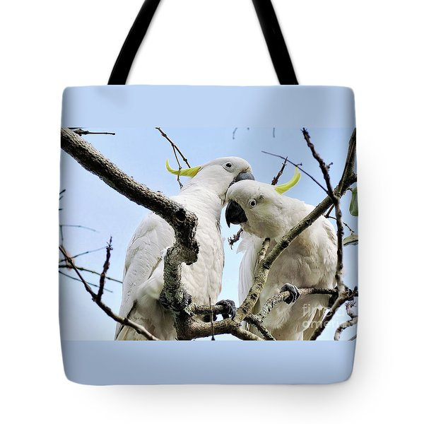 White Cockatoos Tote Bag