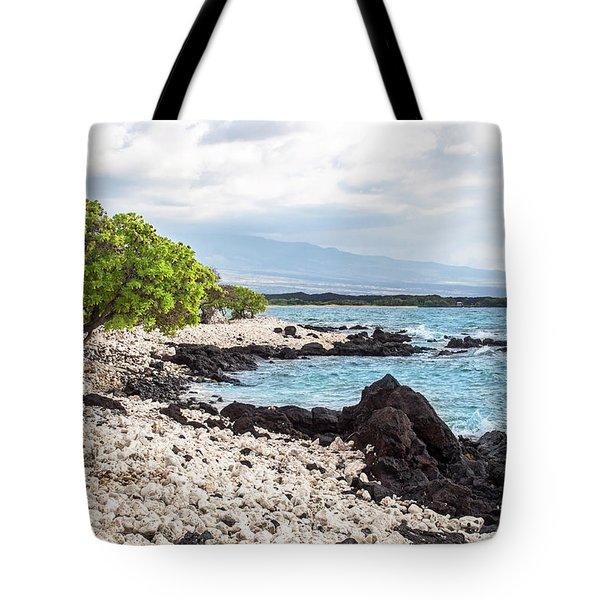 White Coral Coast Tote Bag